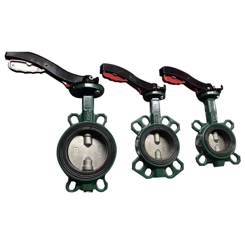 Double Shafts Soft Back Seat Wafer Butterfly Valve