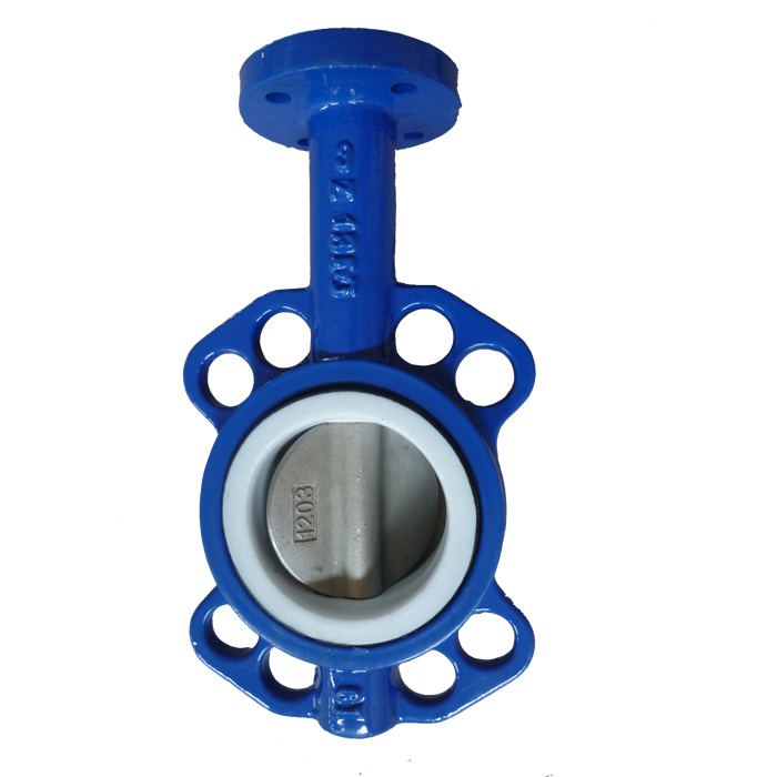 CI Body PTFE Seat Wafer Butterfly Valve